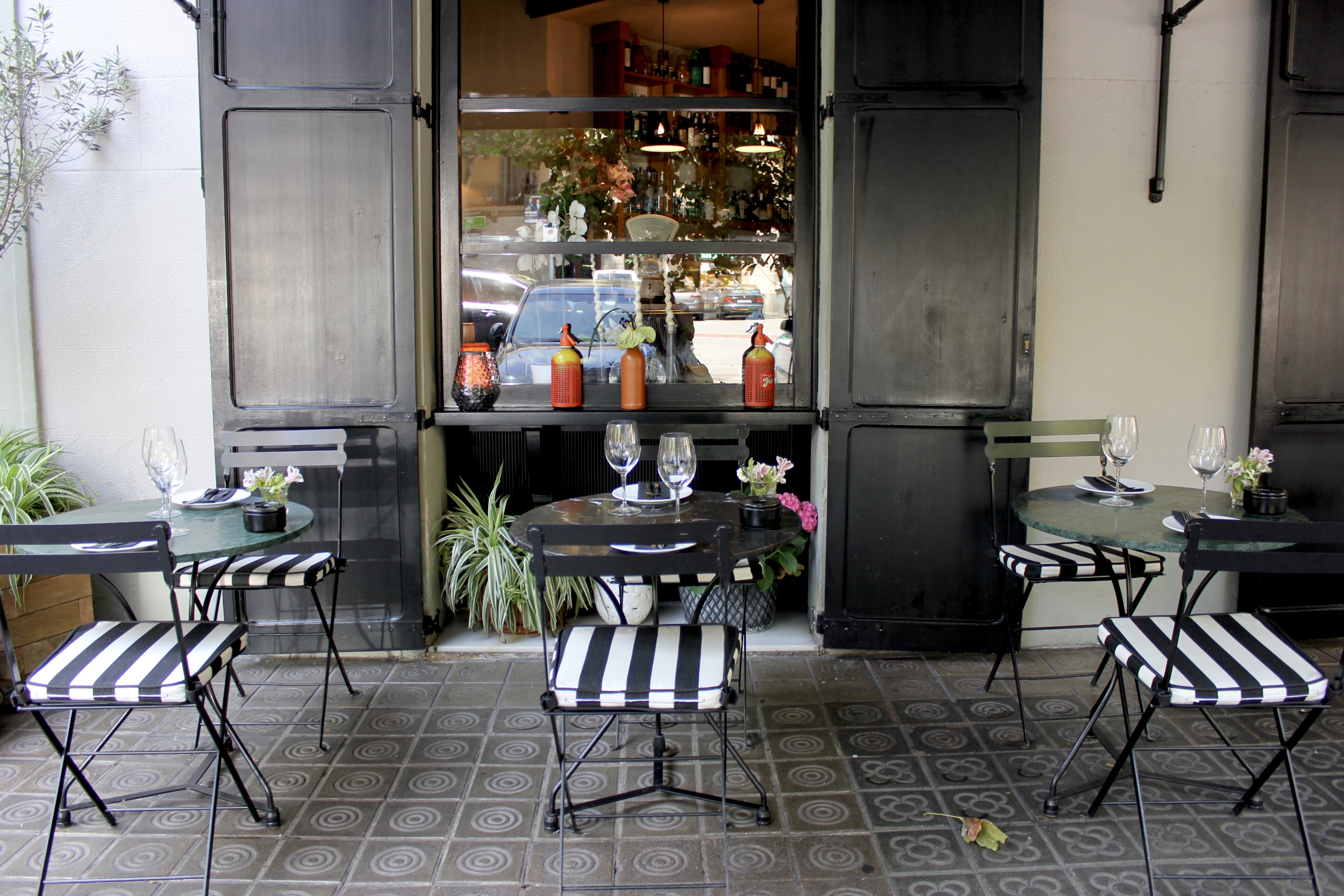 The awning at Mont Bar Barcelona