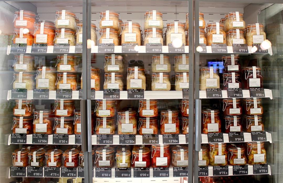 Jars of sauerkraut