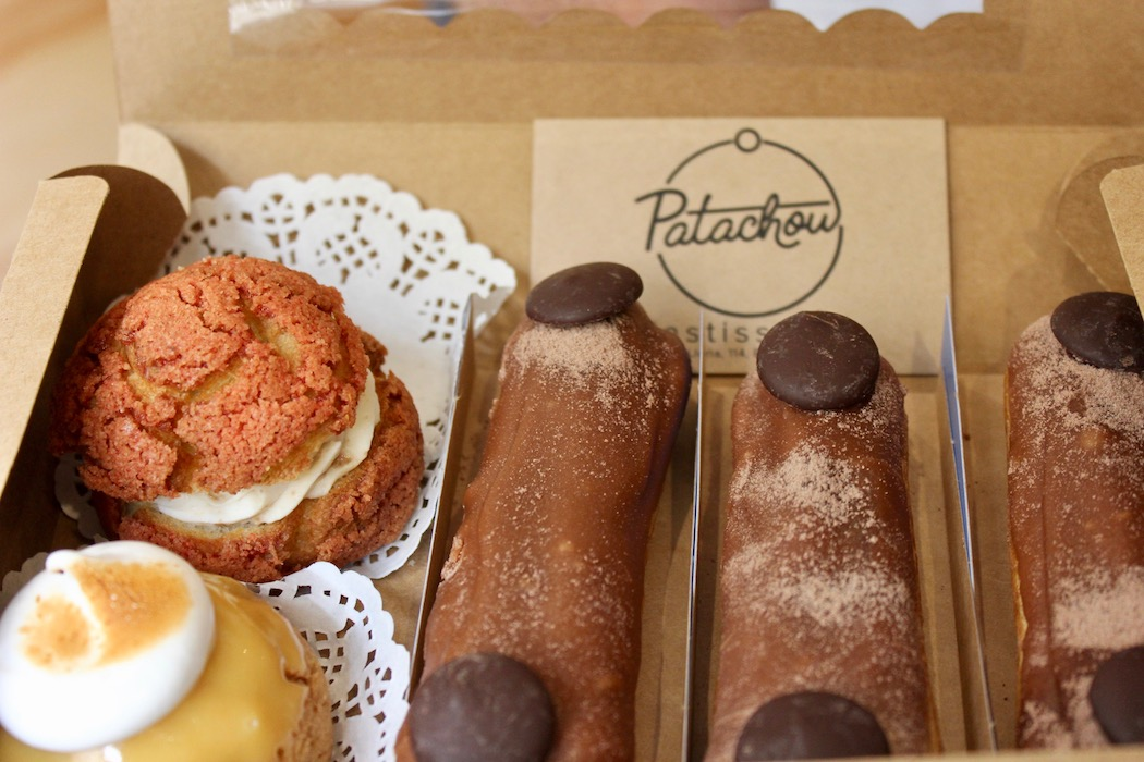 Selection of eclairs from Patachou Eclairs
