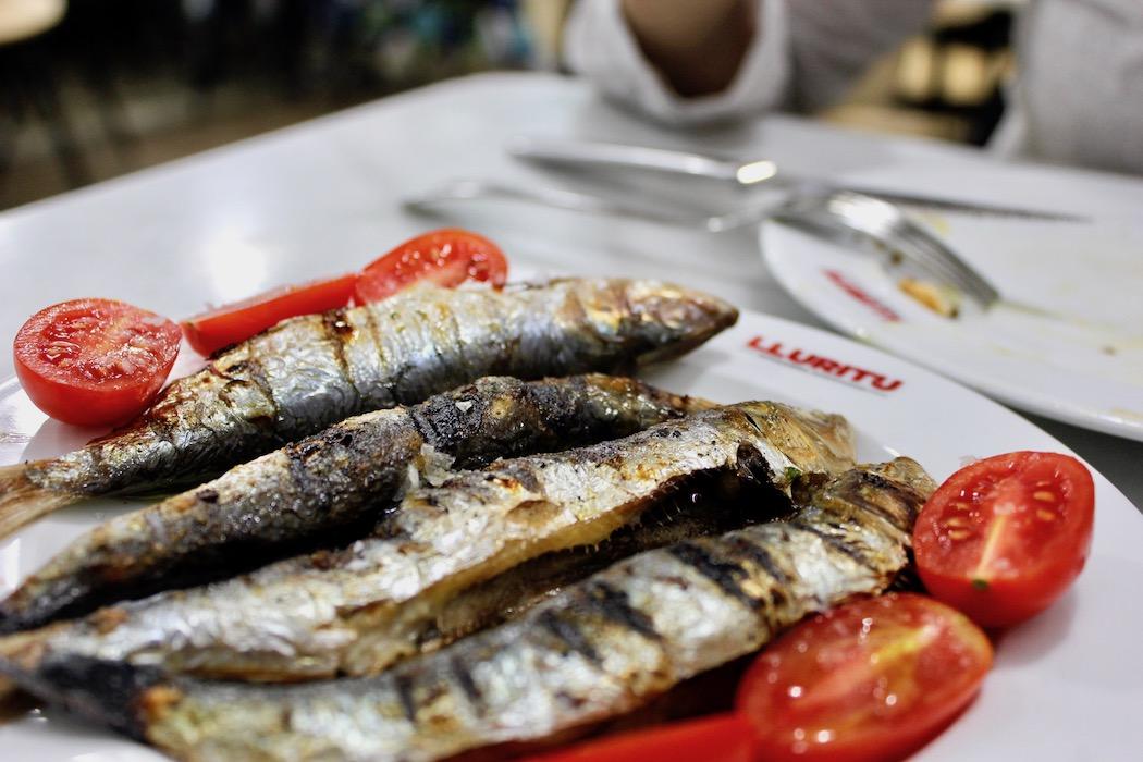 Sardines at Lluritu Gracia