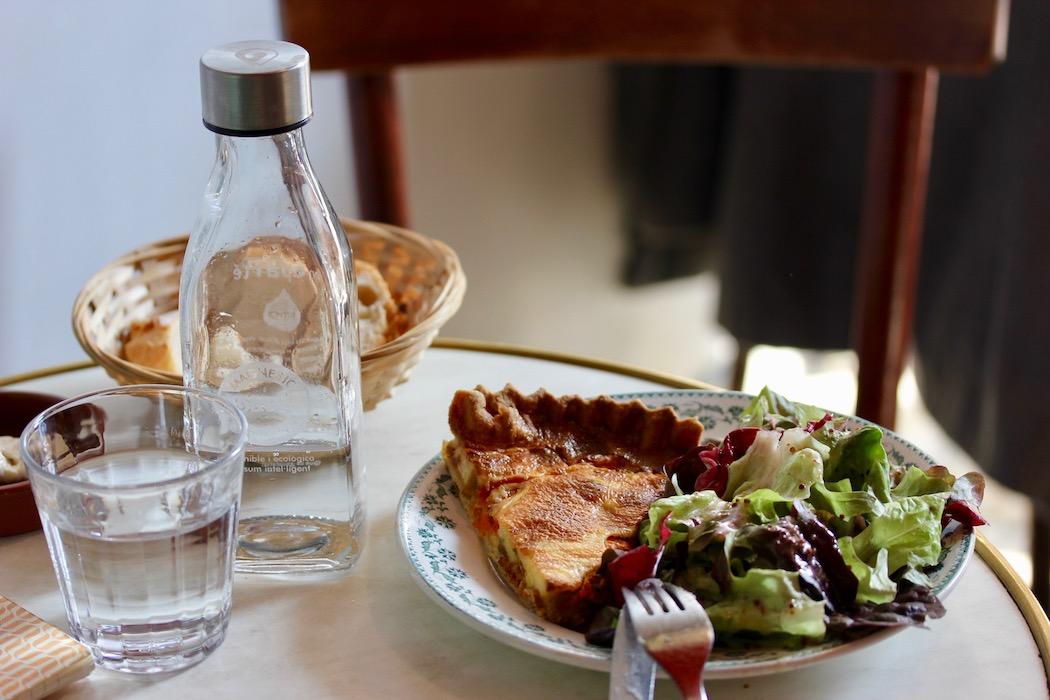 Quiche at En Aparte French Cafe Barcelona