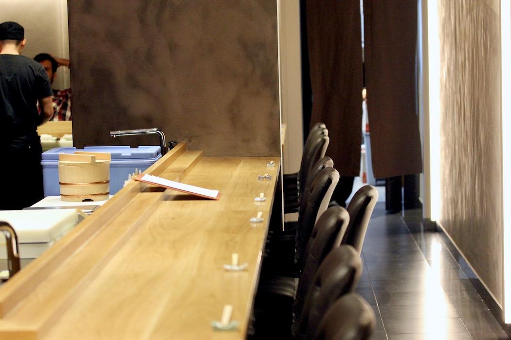 The bar at Sato i Tanaka Japanese