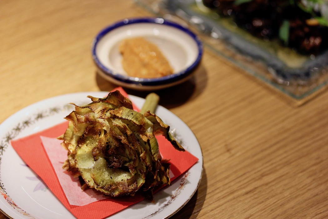 Fried artichoke a la Romana