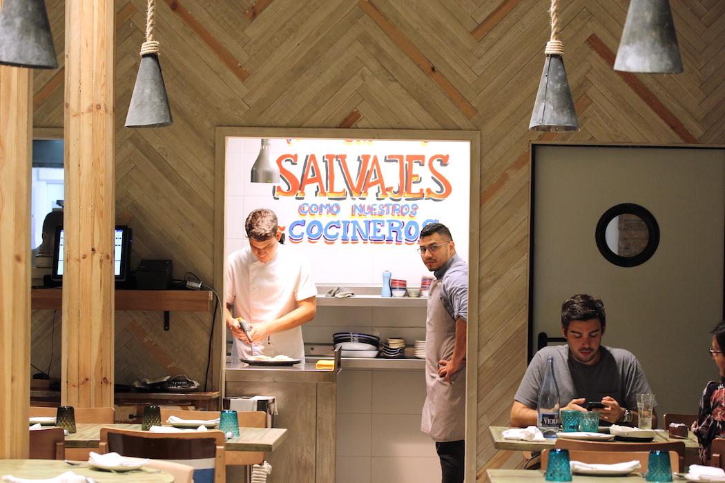 The kitchen looking out at Yakumanka Peruvian