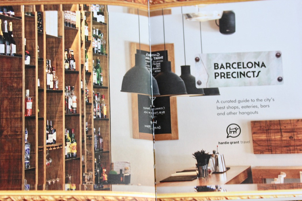 Opening page of Barcelona Precincts book