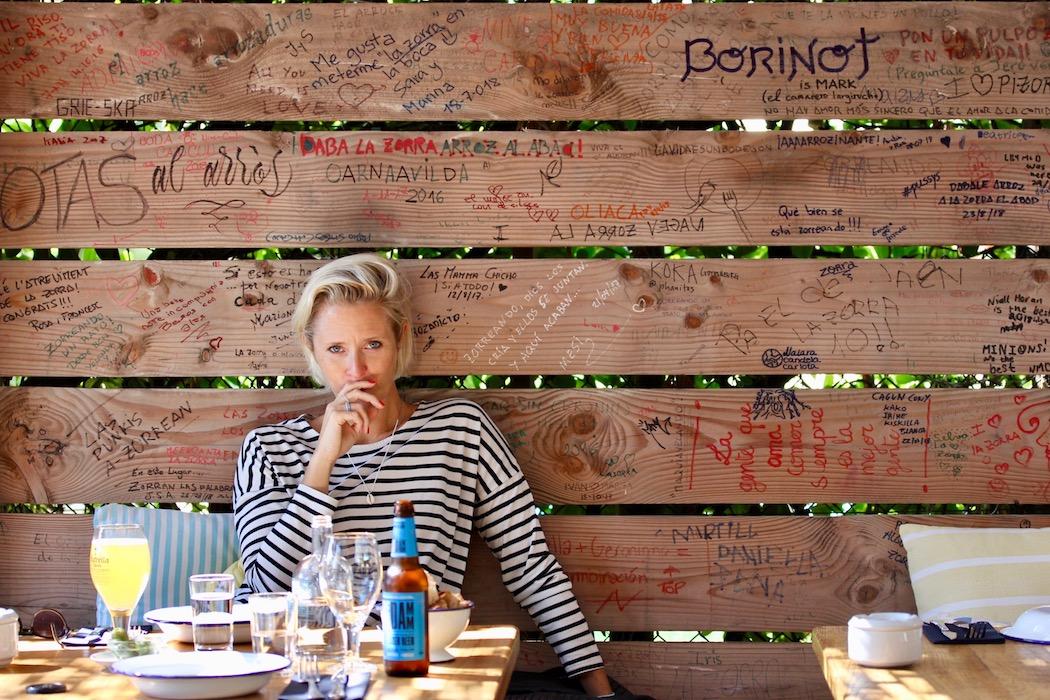 My friend Victoria at La Zorra de Sitges