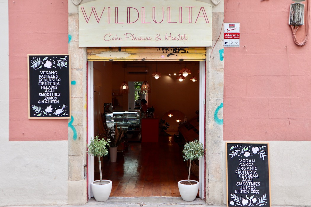 The pink shopfront of Wild Lulita