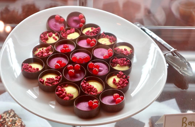 Bright chocolate fruit desserts at Wild Lulita