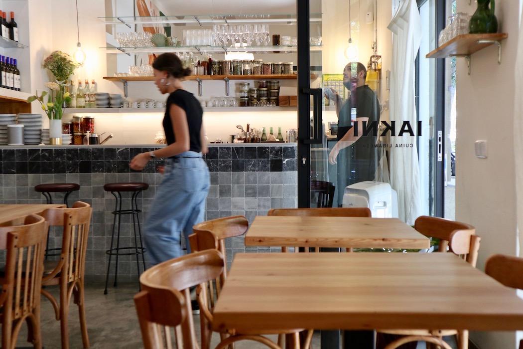 The dining room at Iakni in Sant Antoni