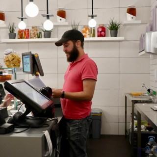 Matt at the Ferment 9 counter in El Born