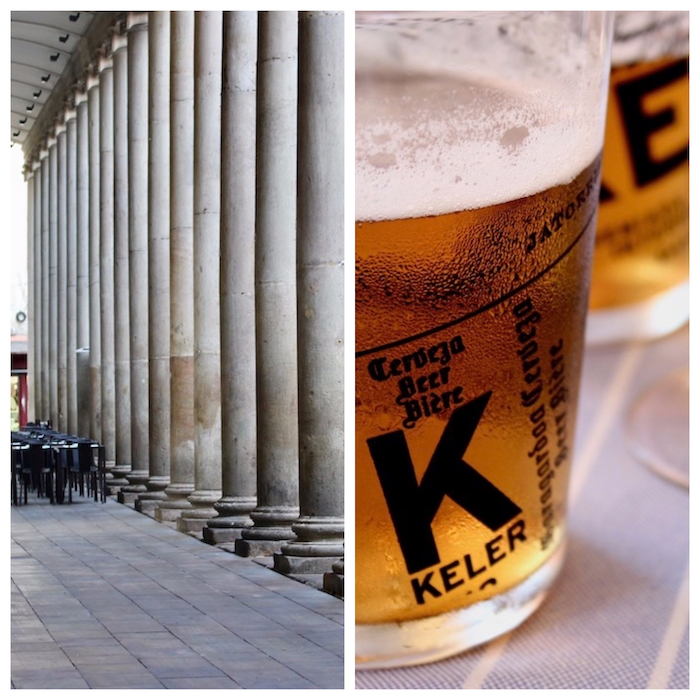 Columns and beer. Barcelona Where to Eat