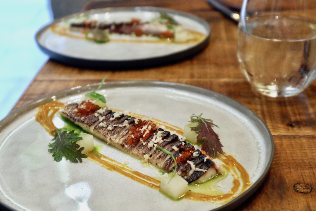 Mackerel with horseradish at Capet restaurant