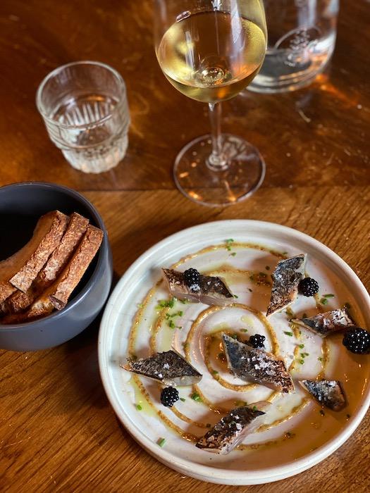 Mackerel at Echo restaurant in Bordeaux