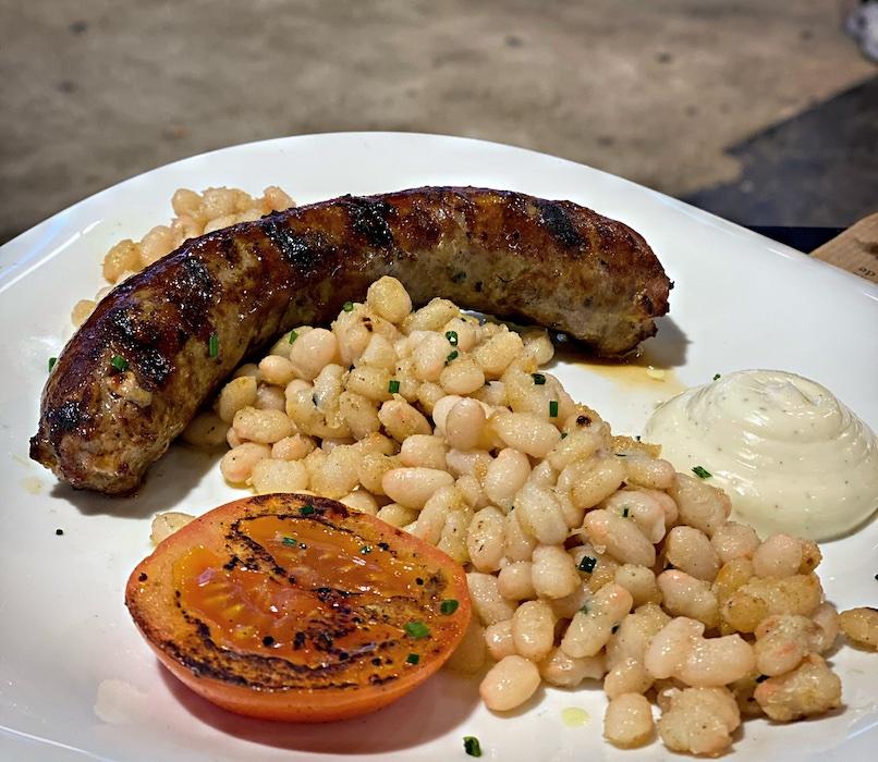 Botifarra sausage with Sant Pau beans