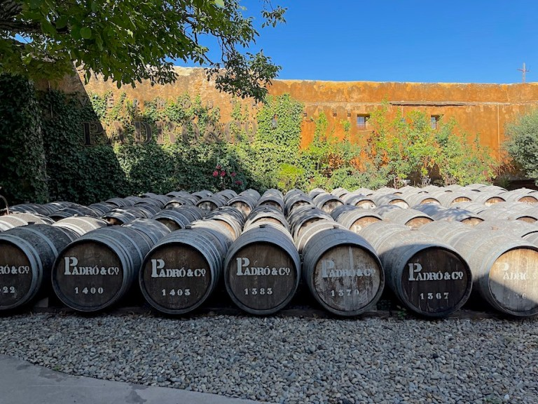 Vermouth Padro barrels in the sun