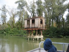 Former fishing tower in the Po delta