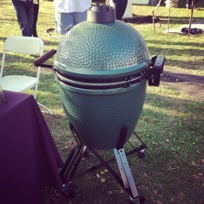 The Big Green Egg up close and personal!