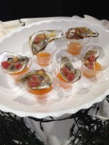 Oysters with champagne from 8 North Broadway