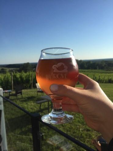 Cherry Cider at Rove Estates.