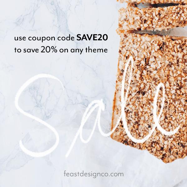 save 20% at feastdesignco.com