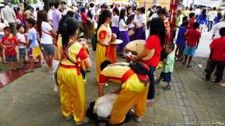 Lion dance drummers