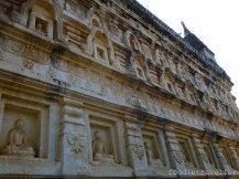 Mahabodhi Temple exterior walls