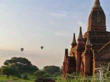 Hot-Air Balloons from Shwe San Daw Pagoda