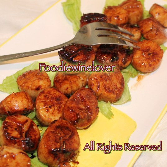 Seared Balsamic-glazed Sea Scallops