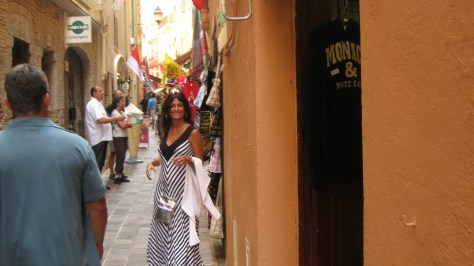 Shopping for souvenirs in the streets of Monaco