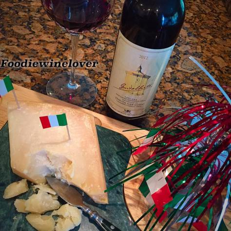 Guidalberto paired with Parmigiano Reggiano