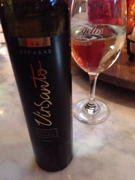 Vinsanto - a delightful Greek dessert wine