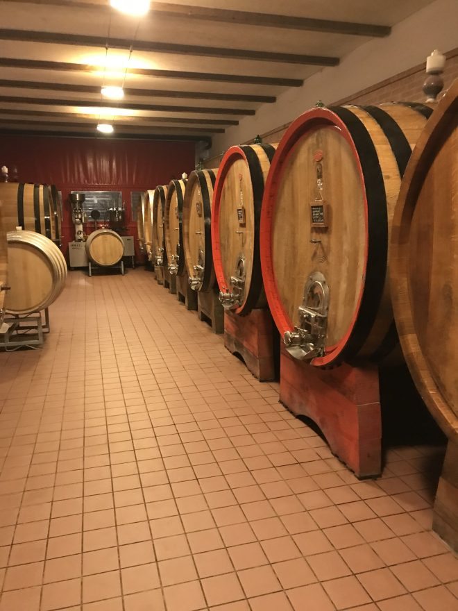 Ca' del Baio Barrel room