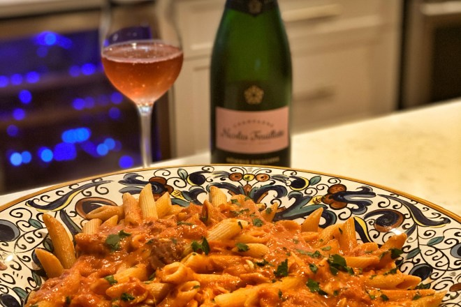 Penne alla Vodka with Crabmeat