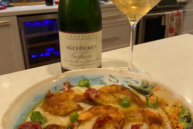Shrimp & Grits paired with Champagne