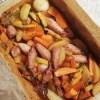 Punjene lignje pečene s povrćem