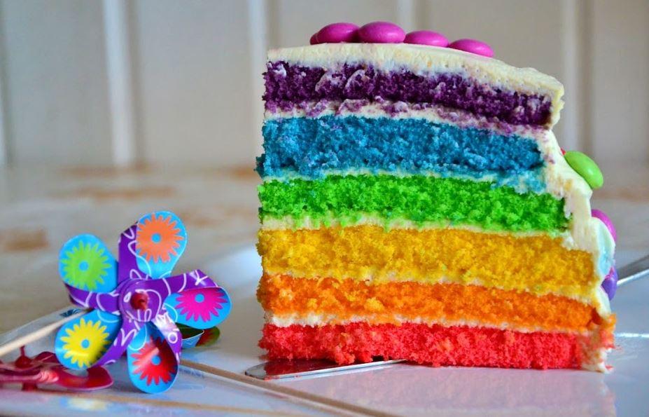 Video Regenbogen Kuchen selbst gebacken  foodimpressde