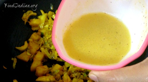 cabbage curry with mustard sauce 9