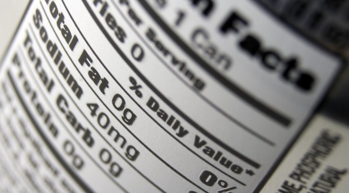 nutritional label, labeling transparency