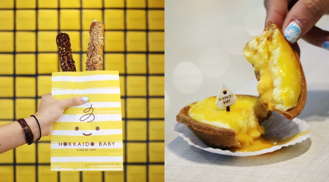[NEW MENU] SALTED EGG CHEESE TART & CROQUANT CHOUX from Hokkaido Baby