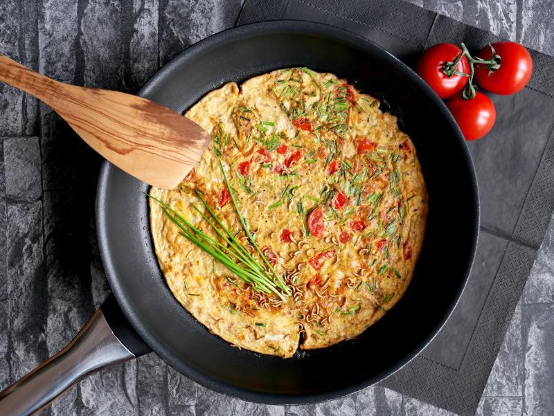 Omelett mit Insektenmehl