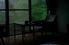 My tatami room at the sanso.