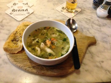 """Delicious """"Vaterzooi"""" seafood stew at De Bobbel, Maastricht"""