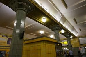 Tiled columns at Hermannplatz