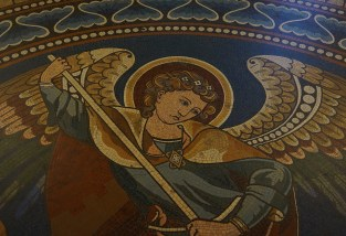 Floor mosaic depicting Archangel Michael