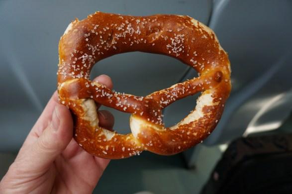 Warm pretzel for the train - Berlin