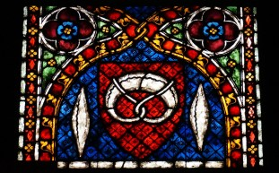 Stained glass window in the Munster
