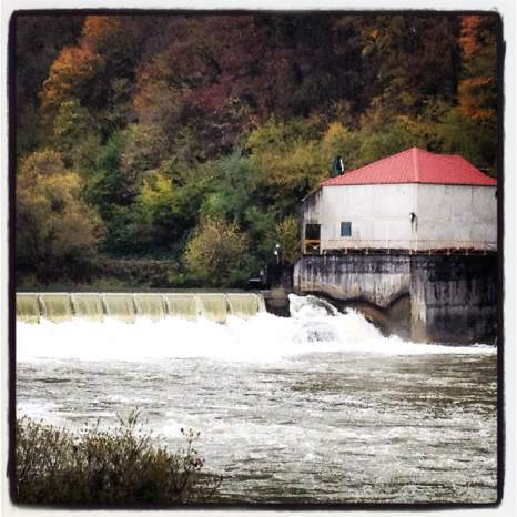 Rain and early snowmelt fill the River Doubs