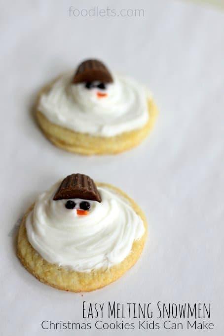 Easy Melting Snowmen Sparkly Santas Simple Christmas Cookies Kids