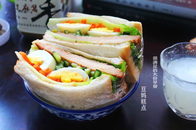 高营养三明治,早餐吃好抵抗力强