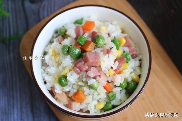 蔬菜和米饭煮一整鍋,营养丰富